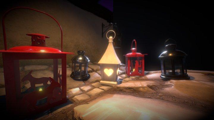Lanterns Showcase 3D Model