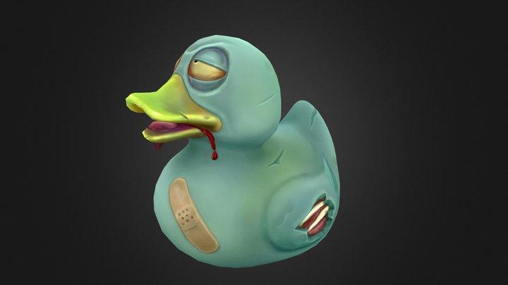 Zombie Rubber Duck 3D Model