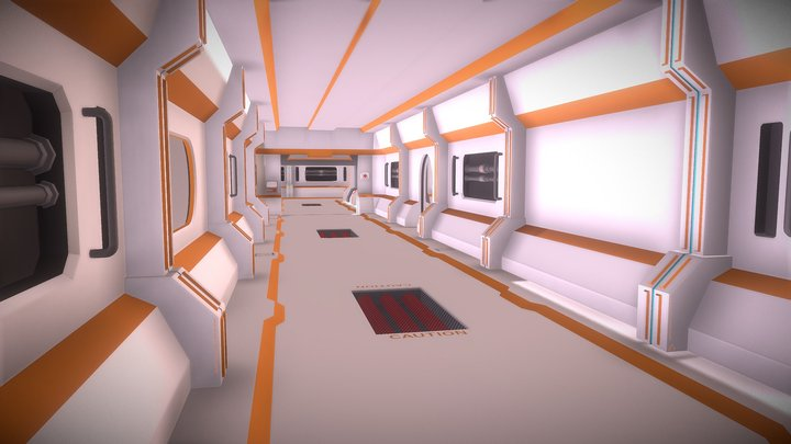 Sci-Fi Hallway - Environment 3D Model
