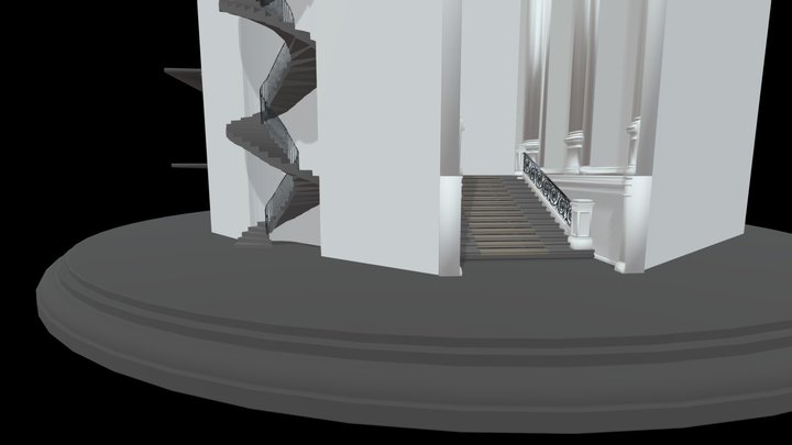 Stair types from a Heritage Building 3D Model
