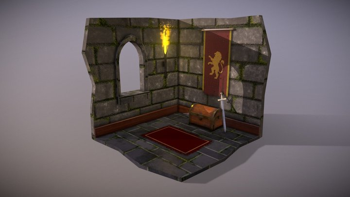 Castle Scene (Assignment) 3D Model