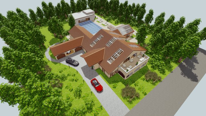 Spanish Villa 1.1 3D Model