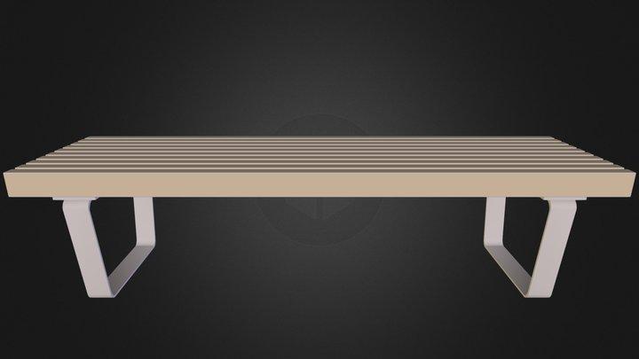 Bench2 3D Model