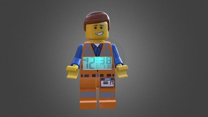 Clock Emmet Lego 3D Model
