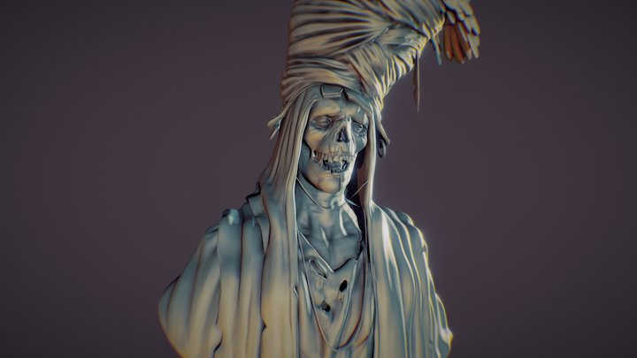Turban mummy - Sketches 3D Model