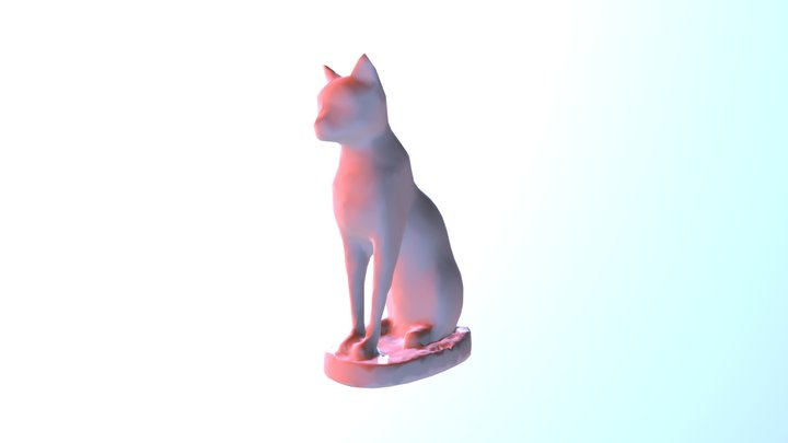 Egyptian Cat Low Poly 3D Model