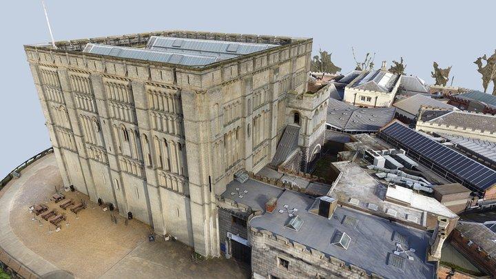 HQ Norwich Castle 3D Model - Aerial Survey 3D Model