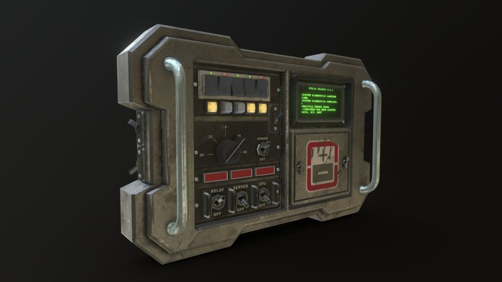Wall Console 3D Model