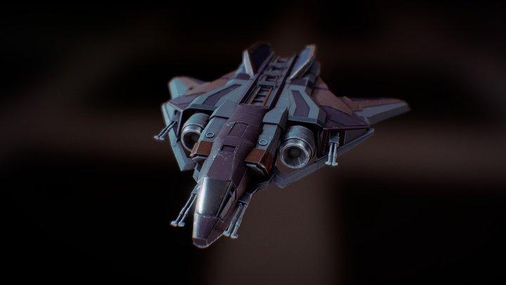 Sabre Starship 3D Model
