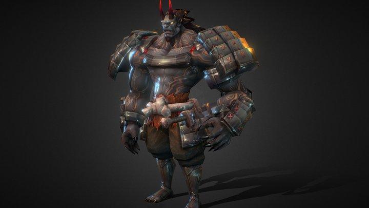 恶魔武士 3D Model