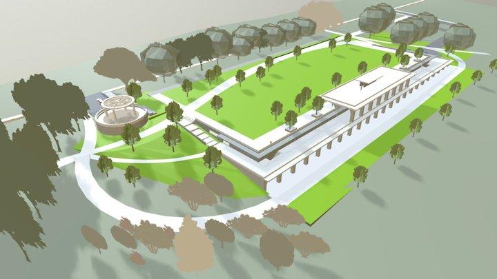 Grant Park Zoo Atlanta Parking Deck 3D Model