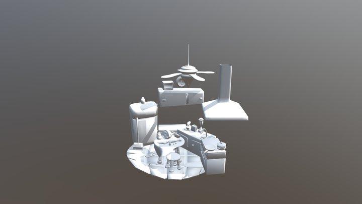 Escenario= Comedor 3D Model