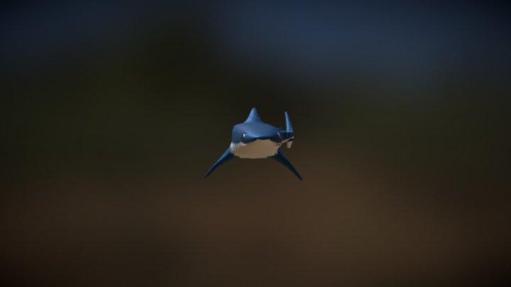 The Toothless Shark 3D Model