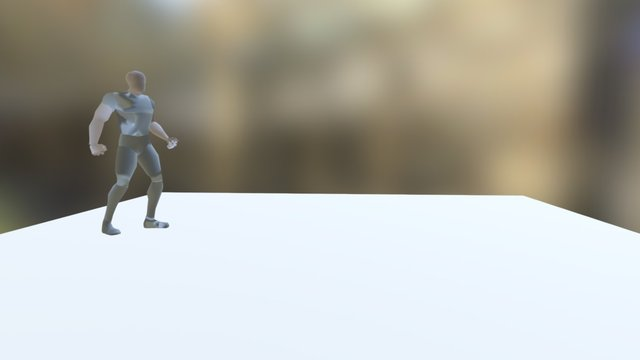Dive Roll Animation 3D Model