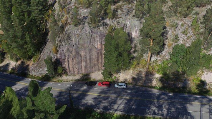 Solvalla climbing cliff 3D Model
