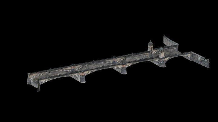 Most Legiíi _ ul. Národní - Střelecký ostrov 3D Model