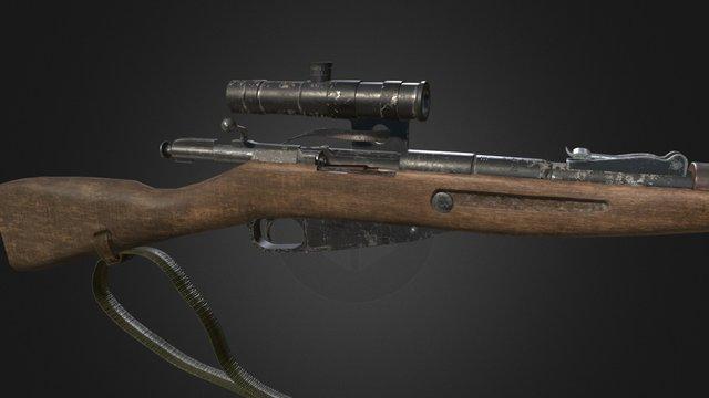 Mosin Sniper Rifle 3D Model