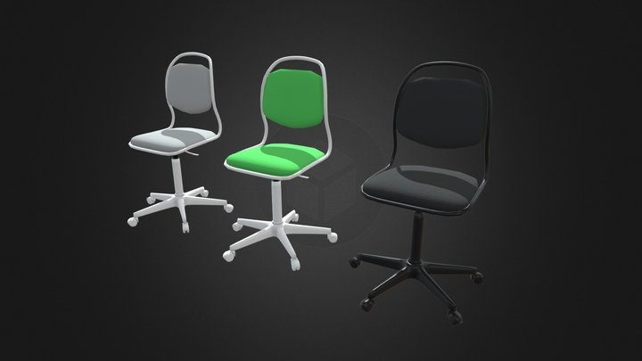 3 Colors Chair for Kids 3D Model