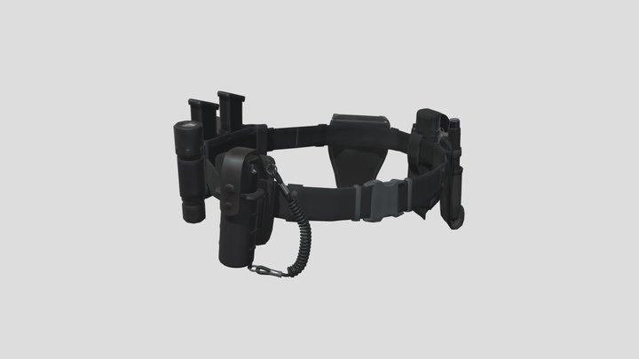 Police Belt Gear Set 3D Model