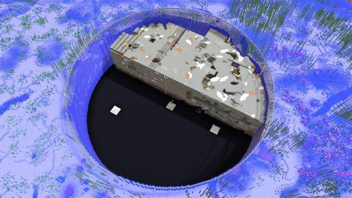 經理狼施工中的海中坑 2020/10/18 3D Model