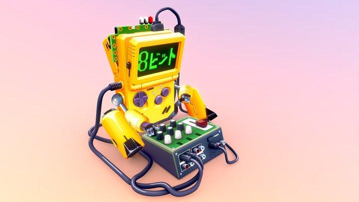 Chiptune-Bot 3D Model