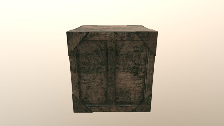 Crate Small 3D Model