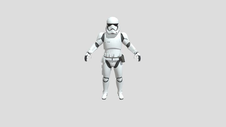 First order trooper Rigged and textured 3D Model