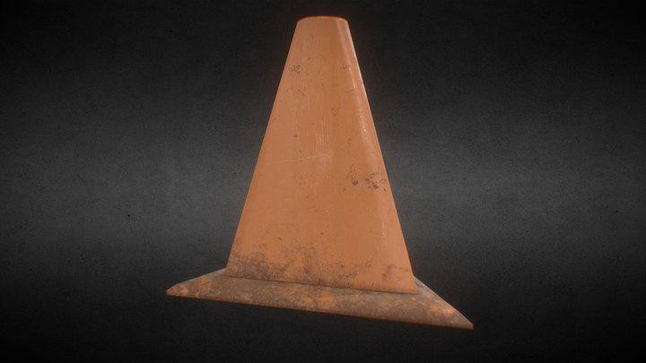 Traffic Cone from Halo 3D Model