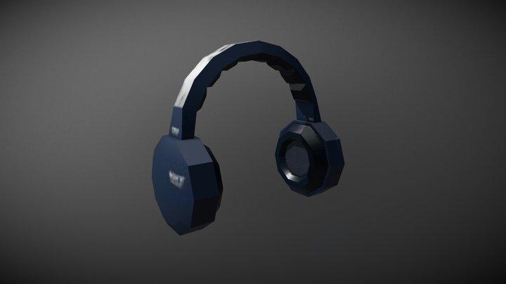 Low Poly Headphones 3D Model