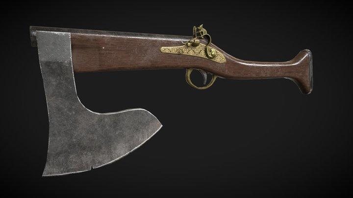 GunAxe 3D Model