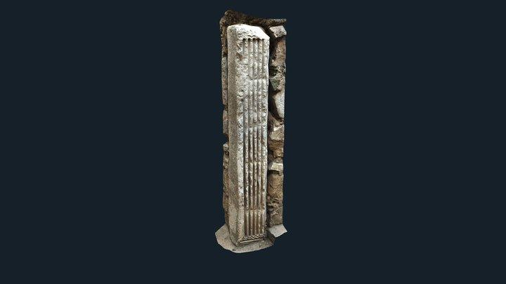 Pilastra Visigoda en Badajoz 3D Model
