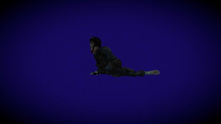 Zombie Crawl 3D Model