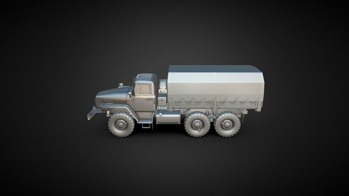 Truck High Poly 3D Model
