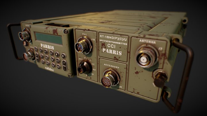 Military Radio Communication System 3D Model