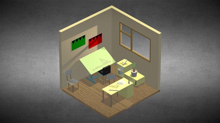 Old delineation workroom 3D Model