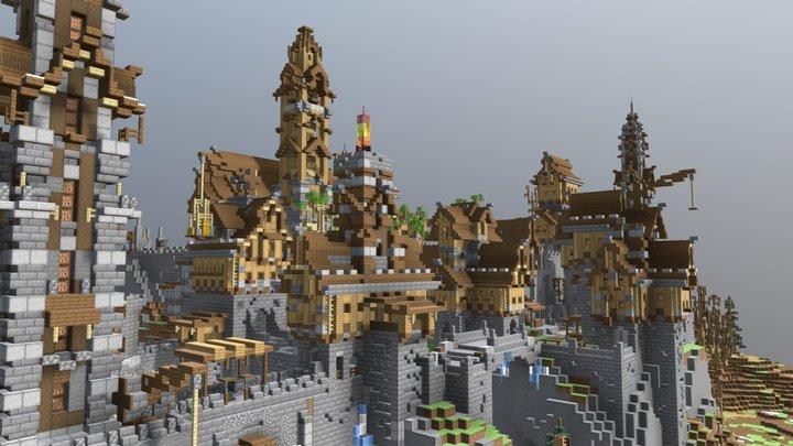 Castle (Minecraft Builld) 3D Model