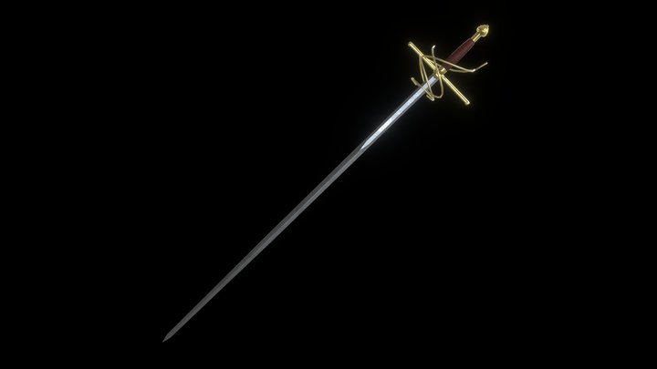 Rapier Sword 3D Model