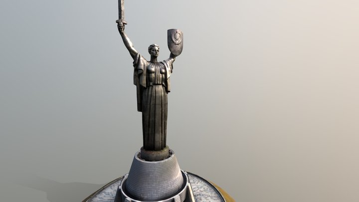 The Motherland Monument (updated 12.14.19) 3D Model