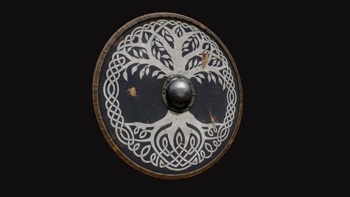 Viking style shield 3D Model