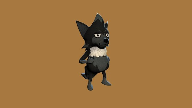 Small Wolf 3D Model