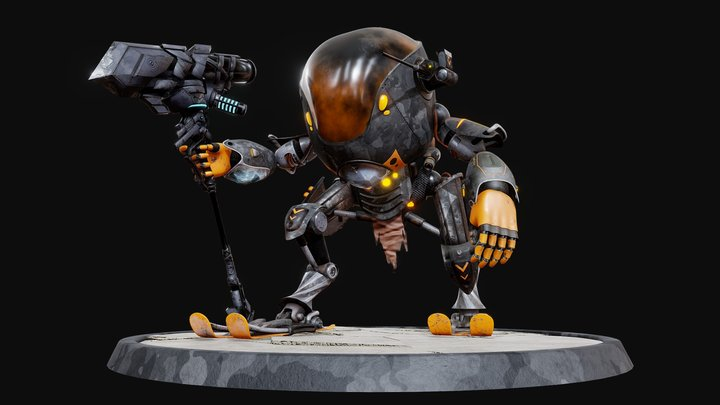 Mecha XBP-XIV / Steel Squad 3D Model