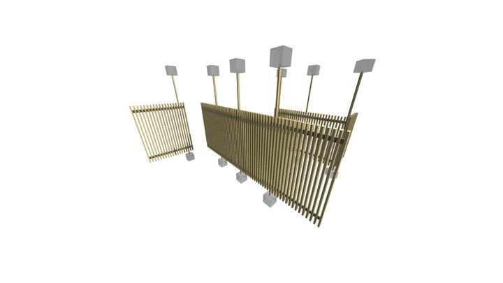 Yellow Cedar Partition Walls 3D Model