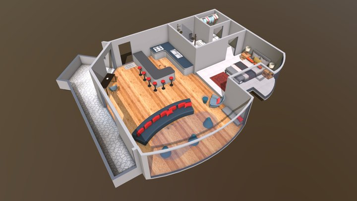 Dubai Exec King Suite 3D Model
