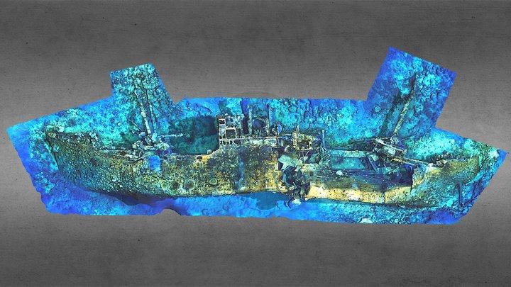 Teshio Maru, Palau 3D Model