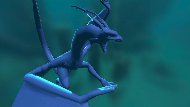 Creature Dragon Water 3D Model
