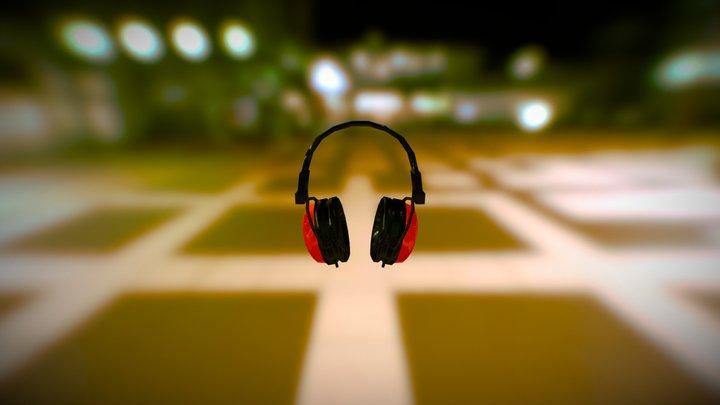 Lowpoly Headphone 3D Model