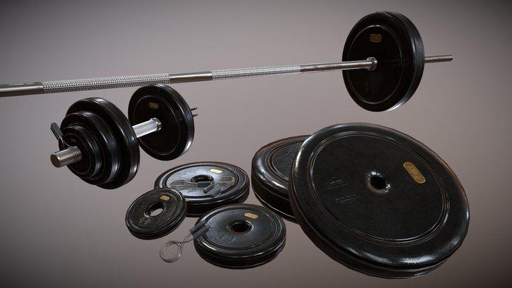 Modular Dumbbell Set 3D Model