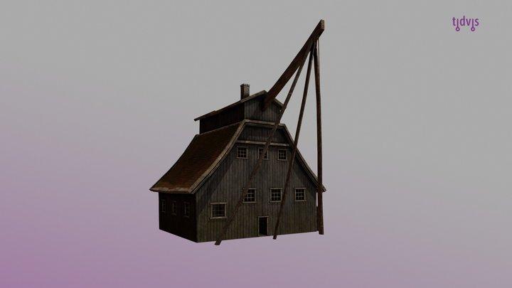 Ship crane - Port of Oslo 1798 3D Model