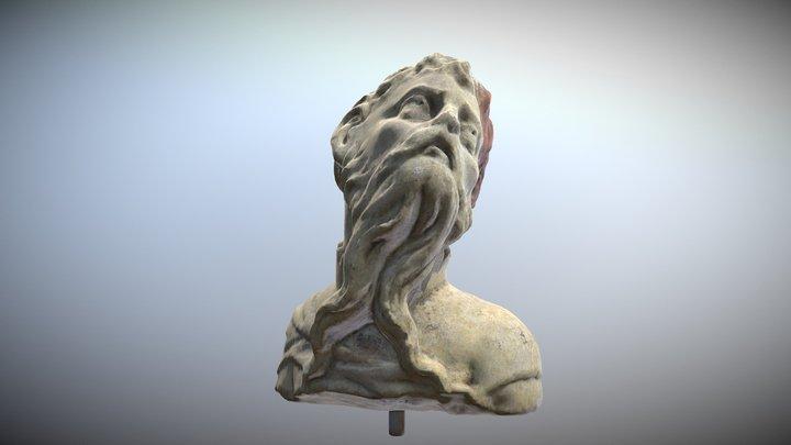 AR/VR 17th century Sandstone Facade Sculpture 3D Model