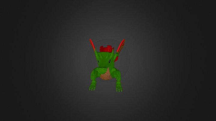 3D Printed Dragon 3D Model